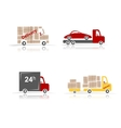Delivery cars set for your design vector image vector image
