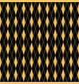 diamond pattern motif seamless gold and black vector image