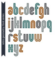 Elegant colorful typescript retro rounded letters vector image vector image
