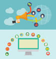 Element of social media icon in flat design vector image vector image