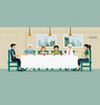 family dining table vector image