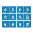 Fingerprint icons on blue background vector image vector image