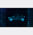 futuristic user interface car service hud vector image vector image