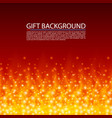 gift background fire cover magic background vector image vector image