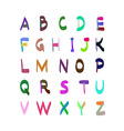 Hand Drawn Colorful Alphabet Set vector image vector image