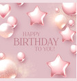 happy birthday congratulations card template vector image vector image