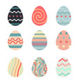 happy easterset easter eggs with different vector image vector image