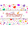 horizontal design template card happy birthday o vector image vector image