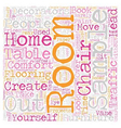 How To Create A Comfortable Room text background vector image vector image
