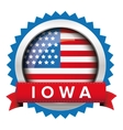 Iowa and USA flag badge vector image vector image