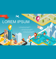 isometric mobile navigation system concept vector image vector image