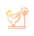 jersey giant hen gradient linear icon vector image