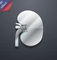Kidney icon symbol 3D style Trendy modern design vector image