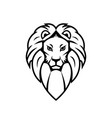 lion head icon isolated on a white background vector image vector image