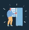 man use fridge woman take vector image vector image
