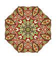 mandala zentangl round ornament for creativity vector image