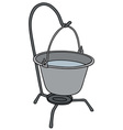 Metal camping kettle vector image vector image