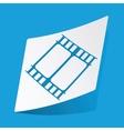 Movie sticker vector image vector image
