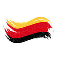 national flag of germany designed using brush vector image vector image