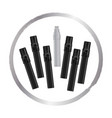 open white marker next to closed black markers vector image vector image