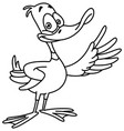 outlined duck vector image