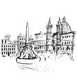 Piazza Navona sketch vector image vector image