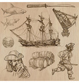 pirates - an hand drawn pack vector image