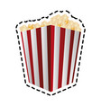popcorn bucket icon image vector image