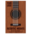 Poster Acoutic Nights vector image