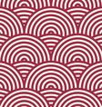 Red endless pattern created with thin undulate vector image vector image