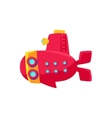Red Submarine Toy Boat vector image vector image