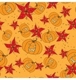 Seamless pattern with Halloween pumpkin and vector image vector image