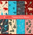 set musical seamless patterns vector image