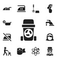 set of 12 editable cleanup icons includes symbols vector image