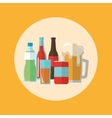 Set of drinks beverages icon graphic vector image vector image