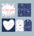 set trendy abstract card and tags for vector image vector image