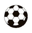 silhouette monochrome with soccer ball vector image vector image