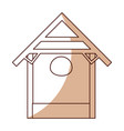 stable wood manger icon vector image vector image