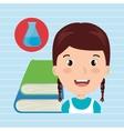 student books school elements vector image