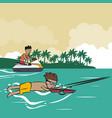 summer water sport concept vector image
