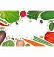 vegetable frame menu template vector image