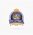 Volleyball tournament logo