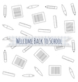 Welcome Back to School festive Label vector image