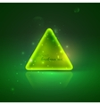 with shiny green triangle vector image