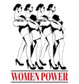 women power hand drawn pretty vector image vector image