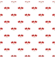 Crossed flags of China pattern cartoon style vector image