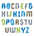 capital letters set hand-drawn colorful script vector image