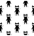 ninja cat seamless patern vector image