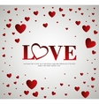 decorative card love with hearts vector image