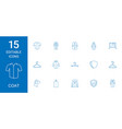 15 coat icons vector image vector image